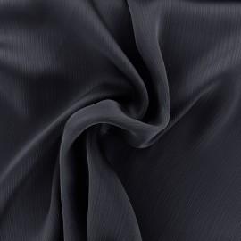 Creased Crepe Fabric - navy x 10cm