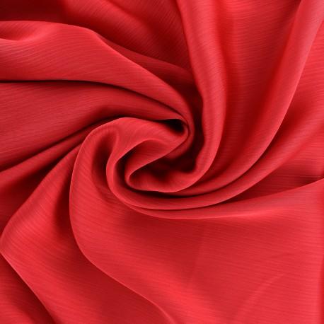 Tissu crêpe froissé - rouge x 10cm
