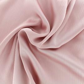 Tissu crêpe froissé - rose x 10cm