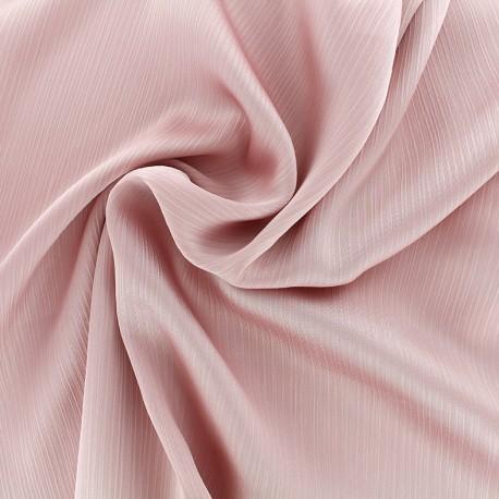 Creased Crepe Fabric - pink x 10cm
