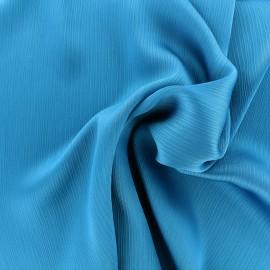 Creased Crepe Fabric - turquoise x 10cm