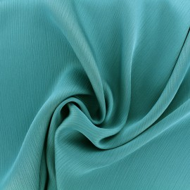Creased Crepe Fabric - teal x 10cm