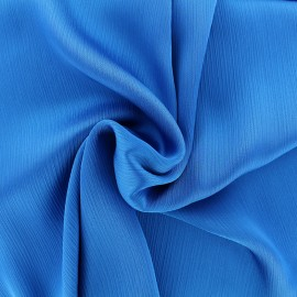 Creased Crepe Fabric - navy blue x 10cm