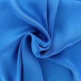 Tissu crêpe froissé - bleu navy x 10cm