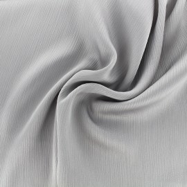 Creased Crepe Fabric - pearl grey x 10cm