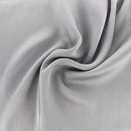 Tissu crêpe froissé - gris perle x 10cm