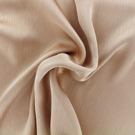 Tissu crêpe froissé - sable x 10cm
