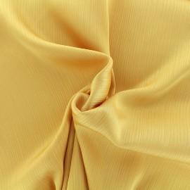 Creased Crepe Fabric - yellow x 10cm