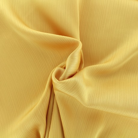Tissu crêpe froissé - jaune x 10cm