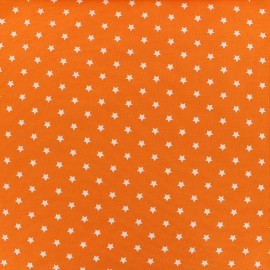 Tissu jersey Poppy Star Party - orange x 10cm
