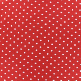 Tissu jersey Poppy Star Party - rouge x 10cm