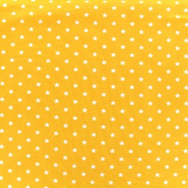 Tissu jersey Poppy Star Party - jaune x 10cm
