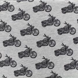 Tissu jersey Poppy Road trip - gris clair chiné x 10cm