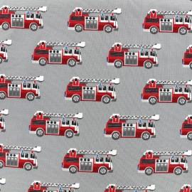 Tissu jersey Poppy Firetruck - gris x 10cm