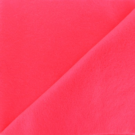 Neon felt Fabric - pink x 10cm
