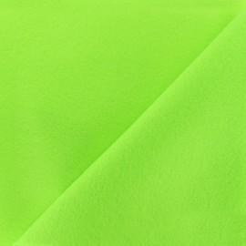 Tissu feutrine fluo - vert x 10cm
