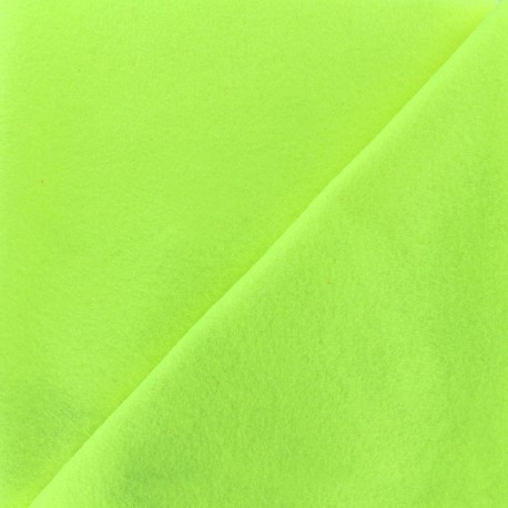 Neon felt Fabric - yellow x 10cm