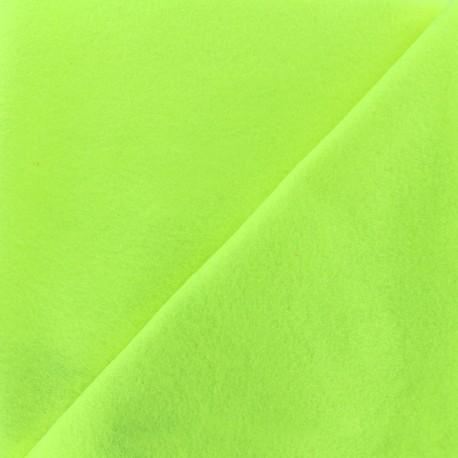 Tissu feutrine fluo - jaune x 10cm