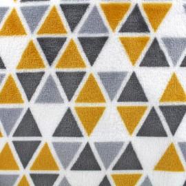 Tissu Doudou Delta remix - soleil/gris x 10cm