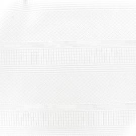 Tissu Jersey jacquard Alba - blanc x 10cm
