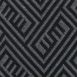 Tissu jacquard stretch Maya - noir x 10cm