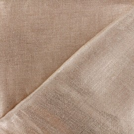 Lino Linen Fabric - Metallic Gold x 10cm