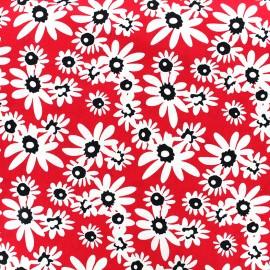 Tissu popeline Paquerette - rouge x 10cm