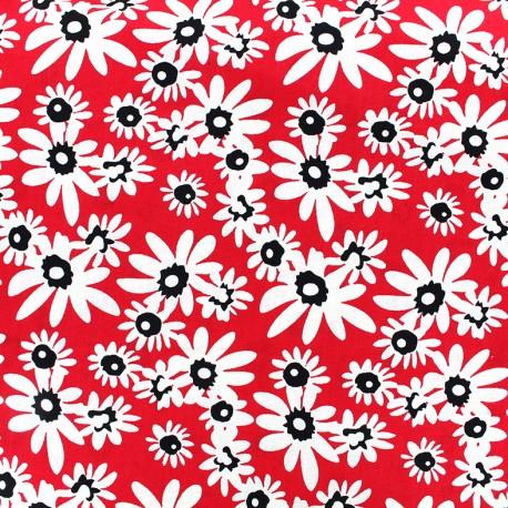 Poplin Fabric  Paquerette - red x 10cm
