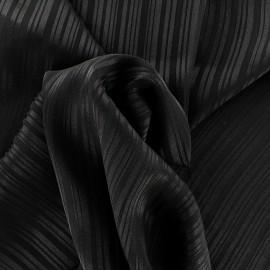 Tissu crêpe à rayures Shiny - noir x 10cm