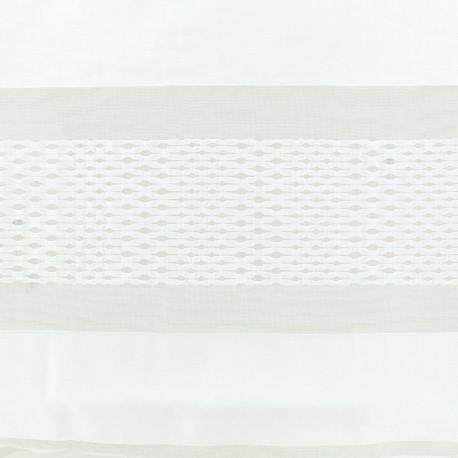 Striped organza Fabric Lucy - ecru x 25cm
