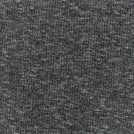 Ribbed stitched mocked jersey fabric - black x 10cm