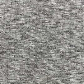 Ribbed stitched mocked jersey fabric  stripes 10mm - grey x 10cm