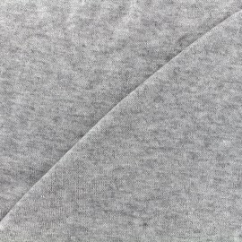 Stitched mocked jersey fabric Soft - light grey x 10cm