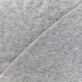 Tissu jersey maille chiné Soft - gris clair x 10cm