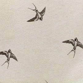 Tissu toile coton - Hirondelle x 20cm