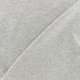 Jersey tubulaire bord-côte 1/1 - gris clair chiné x 10cm