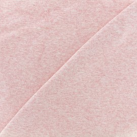 Knitted Jersey 1/1 tubular edging fabric - light mocked pink x 10cm