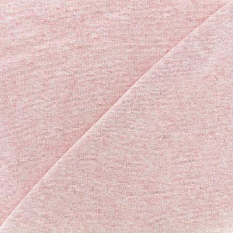 Knitted Jersey 1/1 tubular edging fabric - light mocked pink x 10cm