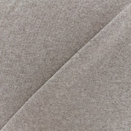 Mocked knitted Jersey 1/2 tubular edging fabric - light brown x 10cm