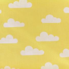 Tissu Oeko-Tex coton popeline Color Nuage - jaune x 10cm