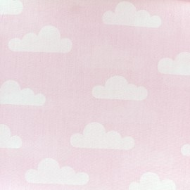 Cotton poplin fabric Color Nuage - pink x 10cm