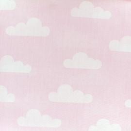 Tissu coton popeline Nuage - rose x 10cm