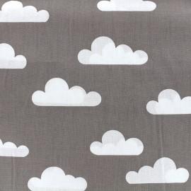 Tissu coton popeline Color Nuage - gris x 10cm