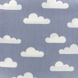 Cotton poplin fabric Color Nuage - blue x 10cm