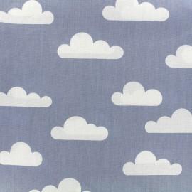 Tissu coton popeline Color Nuage - bleu x 10cm