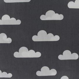 Cotton poplin fabric Color Nuage - anthracite x 10cm
