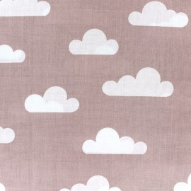 Cotton poplin fabric Color Nuage - old pink x 10cm