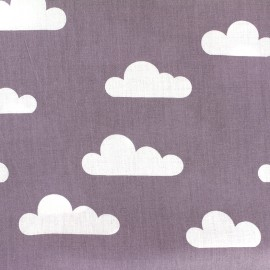 Cotton poplin fabric Color Nuage - parma x 10cm