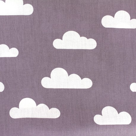 Cotton poplin fabric Nuage - parma x 10cm