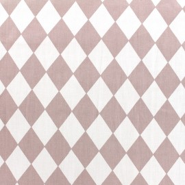 Cotton poplin fabric Color Arlequin - old pink x 10cm